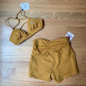 Other - *NWT* Golden Ballet Inspired Yoga Outfit